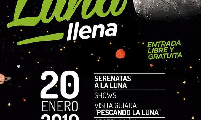 SERA EL 20 DE ENERO CONJUNTAMENTE CON UN ECLIPSE DE LUNA Fiesta de la Luna LLena en Plaza Sobremonte