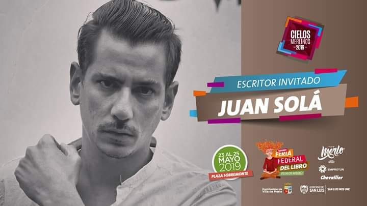 ESCRITOR Y EDITOR  Juan Solá en la Feria Federal del Libro