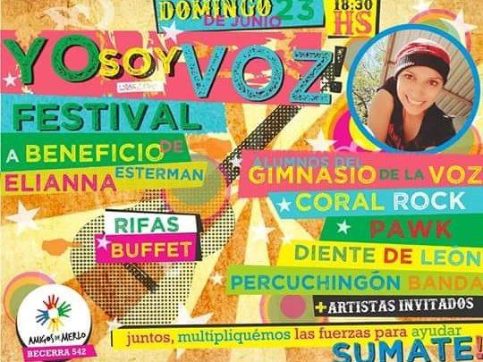 EN AMIGOS DE MERLO EL DOMINGO 23 A LAS 18:30 Festival musical «Yo soy Voz» a beneficio de Elianna Esterman