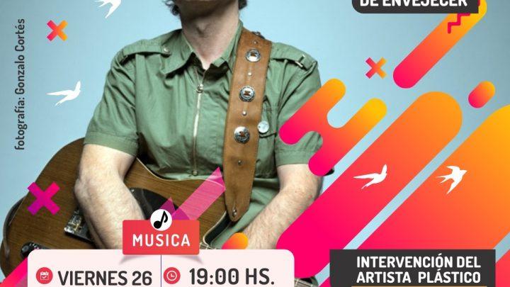 """""""A UN MINUTO DE ENVEJECER"""" Jorge Araujo presenta su primer disco solista en la Casa del Poeta"""