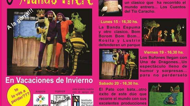 EN AMIGOS DE MERLO  3º Festival Internacional Mundo Títere en vacaciones de Invierno