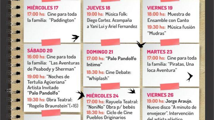 DEL 13 AL 28 DE JULIO  Variadas actividades en la Casa del Poeta para las vacaciones
