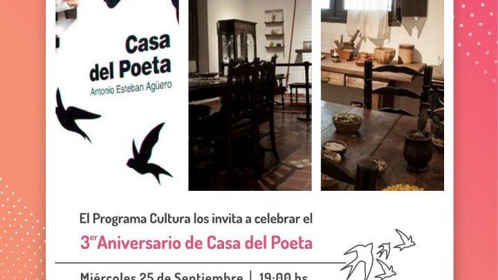 MIÉRCOLES 25 A LAS 19:00 La Casa del Poeta festeja su tercer aniversario