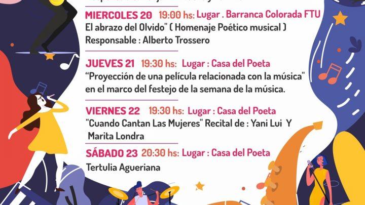 ORGANIZADAS POR LA FACULTAD DE TURISMO Y URBANISMO Y LA CASA DEL POETA Múltiples actividades en la Semana de la Música
