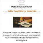 Taller de escritura: «…Entre recuerdo y recuerdo…» en el IMEP