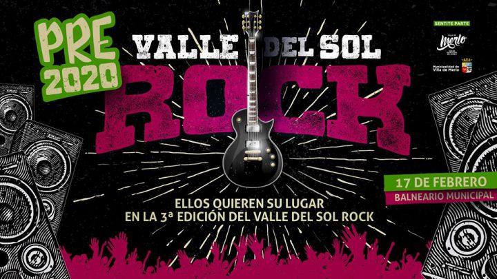 SE REALIZARÁ EN EL BALNEARIO EL LUNES 17 DE FEBRERO Está abierta la Inscripción para el Pre Festival Valle del Sol Rock