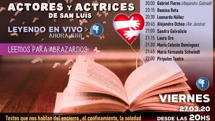 SIN SALIR DE CASA Actores y actrices de San Luis leyendo en vivo